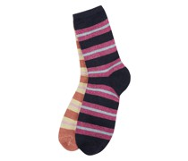 Socken mit Effektgarn im 2er-Pack