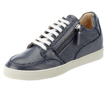 Sneaker aus Leder mit Muster in Metallicoptik