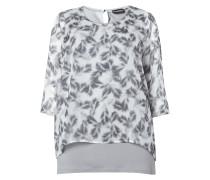 PLUS SIZE - Shirt mit Federn-Print