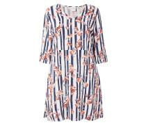 PLUS SIZE - Kleid mit Streifen- und Blumenmuster