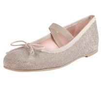 Ballerinas mit Glitter-Effekt und Zierschleife
