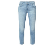 Bleached Cropped Jeans