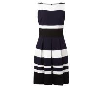 Kleid mit Streifenmuster und Kellerfalten