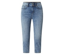 Slim Fit Caprijeans mit Stretch-Anteil Modell 'Kate'