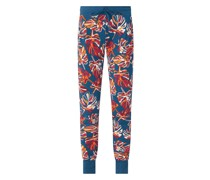 Lounge-Hose mit Allover-Muster