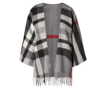 Poncho aus Wolle