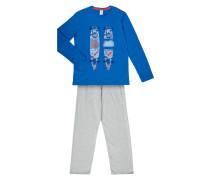 Pyjama mit Skateboard-Print