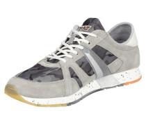 Sneaker aus Veloursleder mit Camouflage-Muster