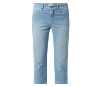 Slim Fit Caprijeans mit Stretch-Anteil Modell 'Cici'