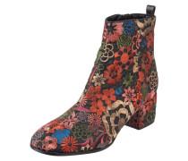 Stiefelette mit floralen Stickereien