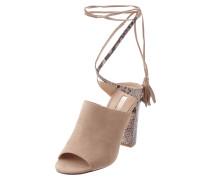 Sandalette aus Veloursleder mit Schnürung