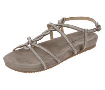 Sandale mit Riemen in Metallicoptik