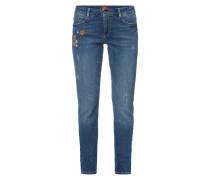 Shape Slim Fit Jeans mit Used-Effekten