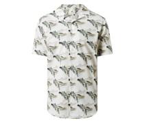 Regular Fit Freizeithemd aus Bio-Baumwolle mit kurzem Arm Modell 'Leo'