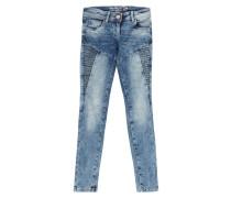 Comfy Fit Bleached Jeans mit Steppungen
