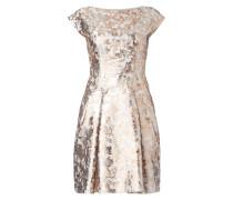 Kleid aus Brokat mit abstraktem Muster