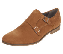 Double Monk Straps aus Veloursleder