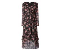 Wickelkleid mit floralem Muster Modell 'Kamas'