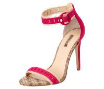 Sandalette aus Leder mit Fransenbesatz
