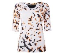 Shirt mit Animalmuster - fein gerippt