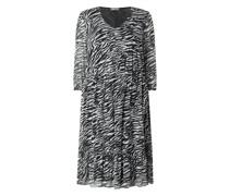 PLUS SIZE Kleid mit Zebramuster
