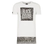 Longshirt mit Kontrastsaum im Layering-Look