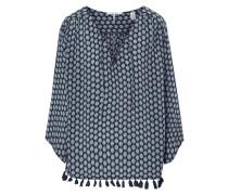 Blusenshirt mit ornamentalem Muster und Zierquasten