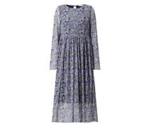 Kleid mit Allover-Muster Modell 'Freja'