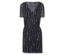 Kleid aus Chiffon mit Muster in Metallicoptik