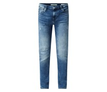 Super Skinny Jeans mit Stretch-Anteil Modell 'Chris' - REPREVE®