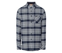 Regular Fit Flanellhemd aus Baumwolle Modell 'Giel'