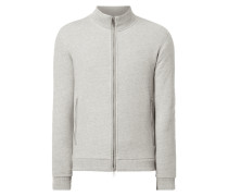 Shaped Fit Sweatjacke mit Webmuster