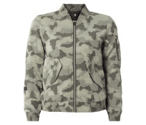 Slim Fit Bomber mit Camouflage-Muster