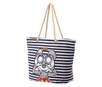 Strandtasche mit Disney©-Print und Streifenmuster