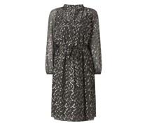 Kleid aus Viskose mit Punktmuster