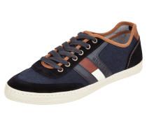 Sneaker aus Canvas mit Kontrastbesatz aus Leder