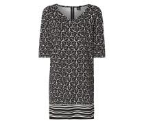 Kleid aus Krepp mit Allover-Muster