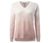 Dip Dye Pullover aus Lochstrick