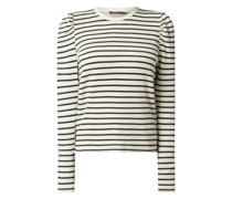 Sweatshirt mit Streifenmuster Modell 'Inge'