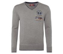 Regular Fit Pullover mit Logo-Stickereien
