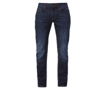 Light Stone Washed Straight Fit Jeans