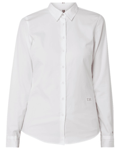 Fitted Hemdbluse aus Organic Cotton