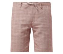 Chino-Shorts mit Leinen-Anteil