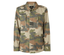 Oversized Jacke mit Camouflage-Muster