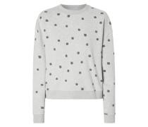 Boxy Fit Sweatshirt mit Katzenmuster