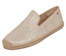 Loafers aus Leder in Flechtoptik