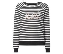 Sweatshirt mit Streifenmuster