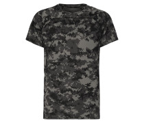 T-Shirt mit stilisiertem Camouflage-Muster