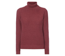 Pullover mit Kontrastbesatz am Saum