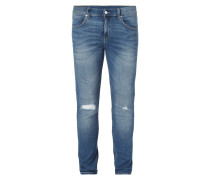 Slim Fit 5-Pocket-Jeans im Destroyed Look